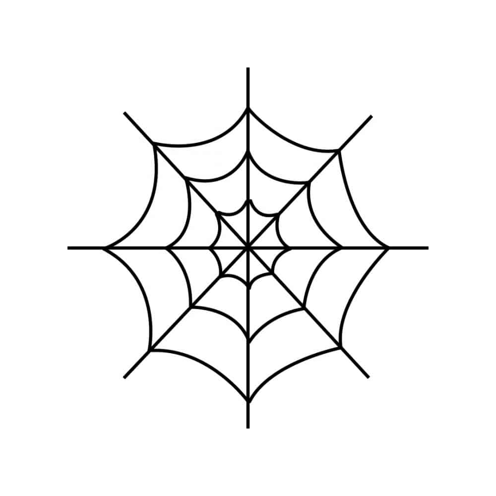 How to draw a spider web 7